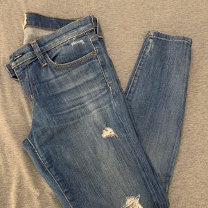 Current Elliott Ripped Denim Jeans - 27